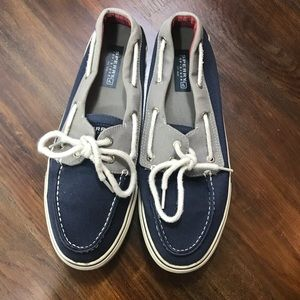 Sperry Top-Sider Blue & Gray Canvas Boat Shoe